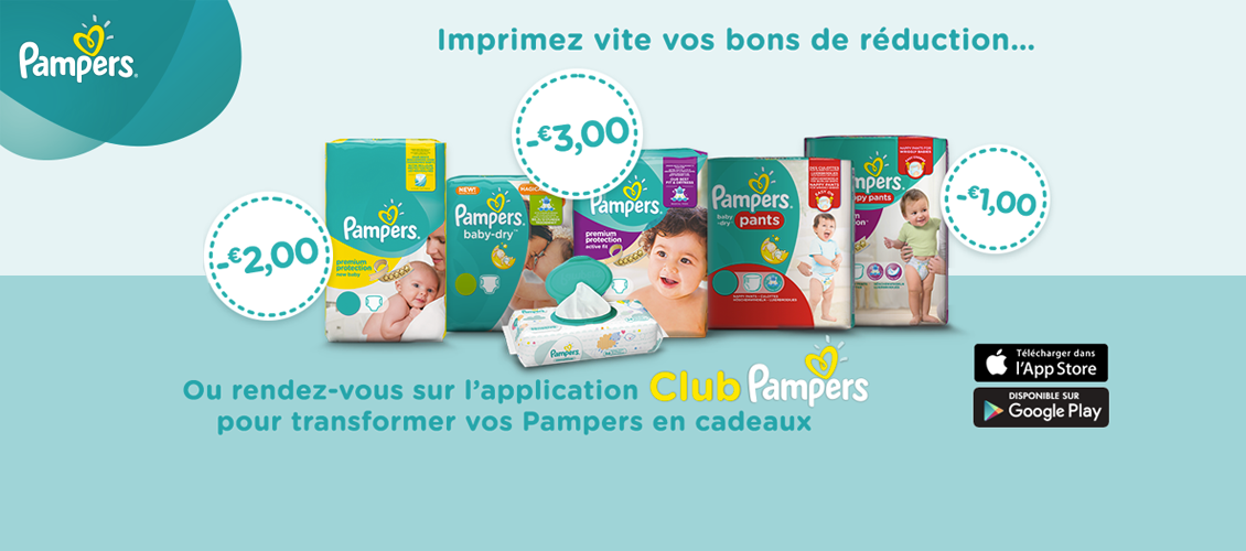 BENEFICIEZ VITE DE VOS BONS DE REDUCTION PAMPERS